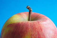 Apple closeup. Closeup of an apple and stalk Royalty Free Stock Photo
