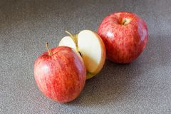 Apple closeup detail fruit art. Background Royalty Free Stock Photo