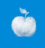 Apple cloud on blue sky. White apple cloud on blue sky vector illustration