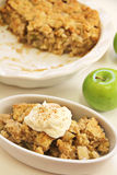 Apple Cobbler Crisp whipped cream cinnamon Stock Image