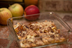 Apple Cobbler dessert Royalty Free Stock Photo