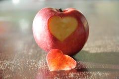Apple - coeur Image stock