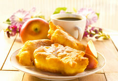 Apple, Coffee And Pastry Royalty Free Stock Images