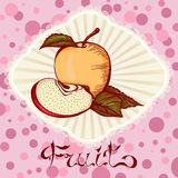 Apple color drawing card Royalty Free Stock Photography