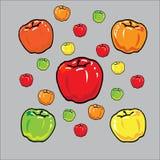 Apple colorea Imágenes de archivo libres de regalías