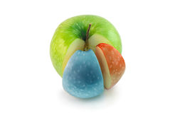 Apple colored chart. Sectoral color diagram or chart in the apple Stock Image