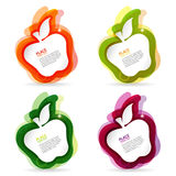 Apple colorful frame Stock Photo