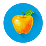 Apple Colorful Fruit Icon Stock Photography