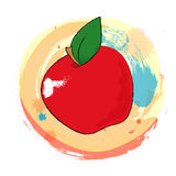 Apple Colorful Sketch Stock Photo
