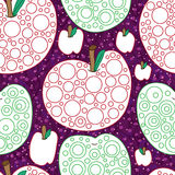 Apple coloring seamless pattern Royalty Free Stock Image