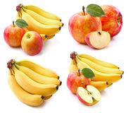 Apple com banana Foto de Stock Royalty Free
