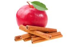 Apple com canela Fotografia de Stock Royalty Free