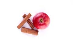 Apple com cinamon Imagens de Stock