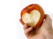 Apple com coração 02 foto de stock