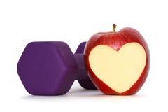 Apple com coração imagens de stock royalty free