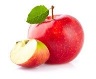 Apple com fatia fotos de stock royalty free