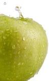 Apple com gotas Fotografia de Stock