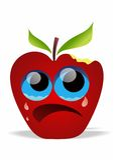 Apple com mordida ilustração stock