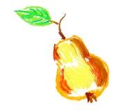 Apple com o desenho da folha isolado Fotografia de Stock Royalty Free