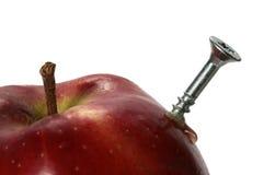 Apple com um parafuso Imagem de Stock Royalty Free
