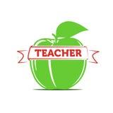 Apple come simbolo di un insegnante/di insegnamento Fotografia Stock Libera da Diritti