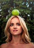 Apple como acessory Golpee la marca Foto de archivo
