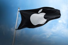 Apple company flag logo icon illustration royalty free stock image
