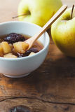 Apple & Compote δαμάσκηνων Στοκ Εικόνα