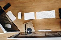 Apple, Computer, Desk Royalty Free Stock Photo