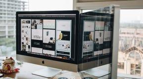 Apple, Computer, Desk Stock Images