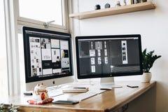 Apple, Computer, Desk Royalty Free Stock Photos
