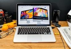 Apple Computer en los últimos avisos de WWDC de iMac Fotos de archivo libres de regalías