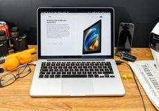 Apple Computer en los últimos avisos de WWDC de iMac con el radeon Imagenes de archivo