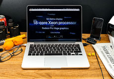 Apple Computer en los últimos avisos de WWDC de la favorable base 18 de iMac Fotos de archivo libres de regalías