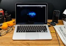 Apple Computer en los últimos avisos de WWDC de la favorable recepción de iMac Foto de archivo libre de regalías