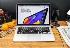 Apple Computer en los últimos avisos de WWDC de la retina de iMac Fotografía de archivo libre de regalías