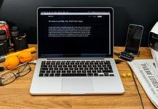 Apple Computer en los últimos avisos de WWDC de las favorables Xeon RRPP de iMac Foto de archivo libre de regalías