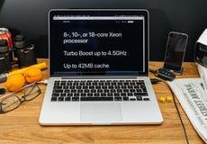 Apple Computer en los últimos avisos de WWDC de las favorables Xeon RRPP de iMac Fotografía de archivo libre de regalías