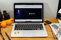 Apple Computer en los últimos avisos de WWDC de noticias en Apple Wa Foto de archivo