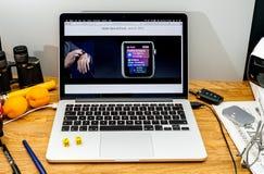 Apple Computer en los últimos avisos de WWDC de Vera Carr alrededor Fotos de archivo libres de regalías