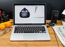Apple Computer en los últimos avisos de WWDC de VR en manzana Fotos de archivo