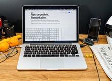Apple Computer en los últimos avisos de WWDC del último keyb de iMac Fotos de archivo libres de regalías