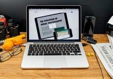 Apple Computer en los últimos avisos de WWDC del featu de la copia-goma Fotografía de archivo libre de regalías