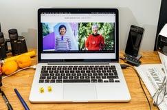 Apple Computer en los últimos avisos de WWDC del vr de iMac en imac Fotografía de archivo libre de regalías