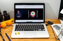 Apple Computer en los últimos avisos de WWDC por el abou de Kevin Lynch Imagen de archivo libre de regalías