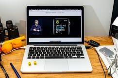 Apple Computer en los últimos avisos de WWDC por el abou de Kevin Lynch Foto de archivo