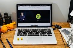 Apple Computer en los últimos avisos de WWDC por el abou de Kevin Lynch Foto de archivo libre de regalías