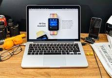Apple Computer en los últimos pers del OS del reloj de Apple de los avisos de WWDC Fotografía de archivo libre de regalías