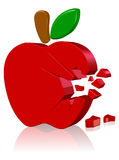 Apple computer logo. Three dimension style and High Quality Image Royalty Free Stock Photos