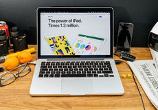 Apple Computer nos anúncios os mais atrasados de WWDC do iPAd novo pro Fotografia de Stock